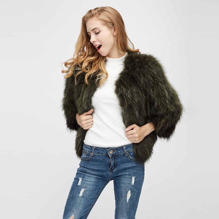 Cropped Raccoon Fur Jacket 972 Details 4