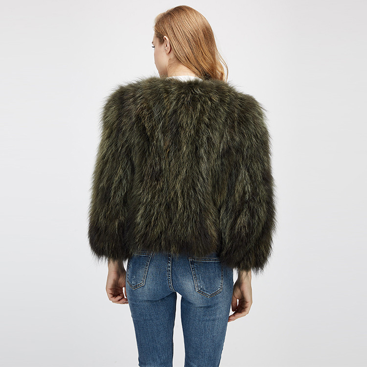 Cropped Raccoon Fur Jacket 972 Details 9