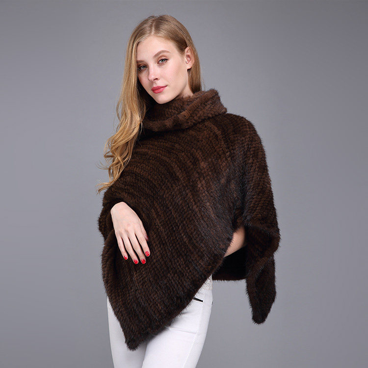 Knitted Mink Fur Poncho 974 Details 10