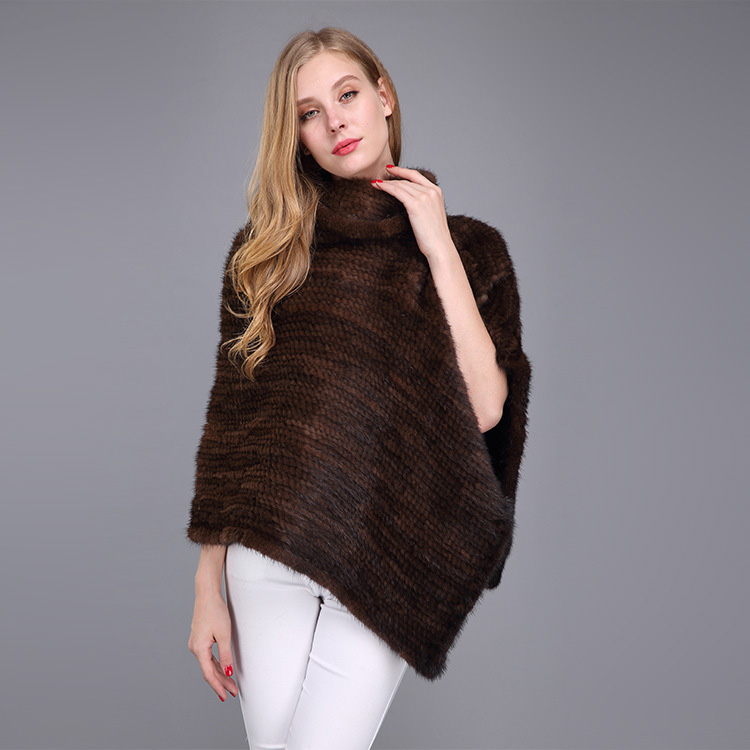 Knitted Mink Fur Poncho 974 Details 12