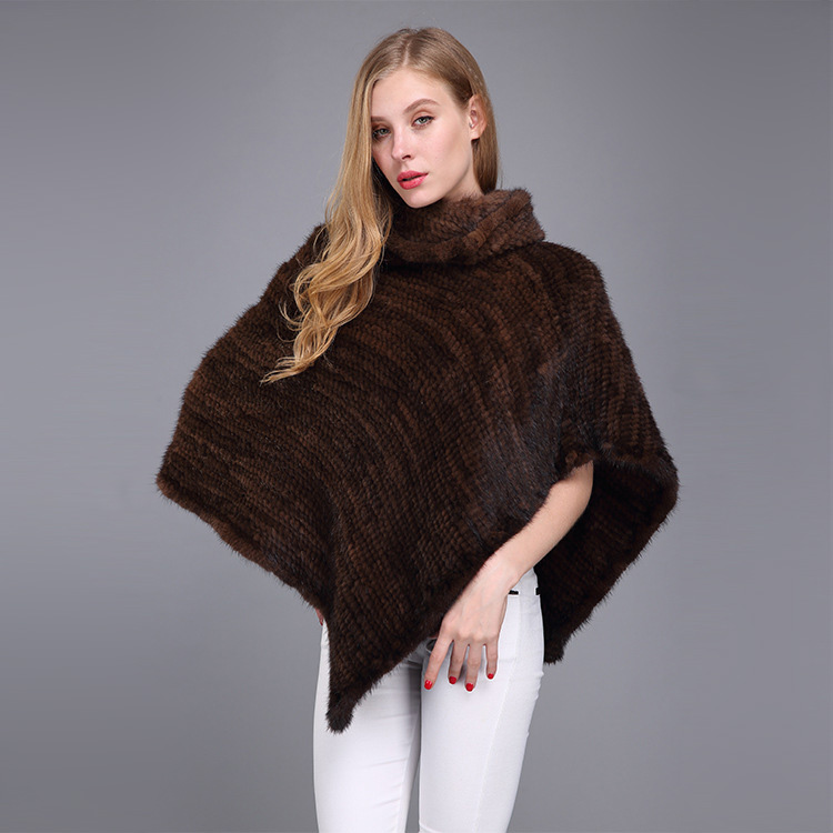 Knitted Mink Fur Poncho 974 Details 13