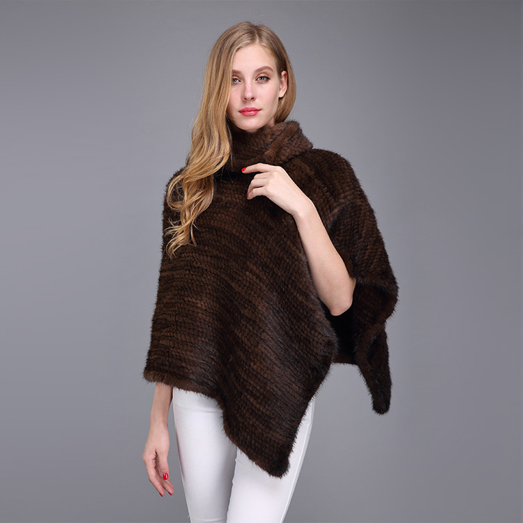 Knitted Mink Fur Poncho 974 Details 14