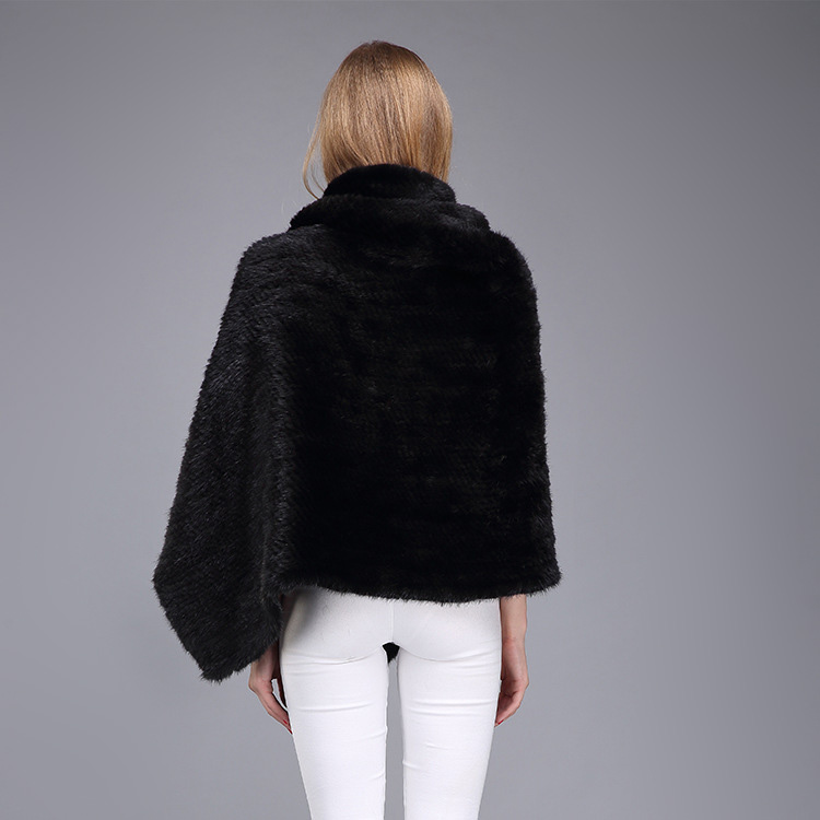 Knitted Mink Fur Poncho 974 Details 8