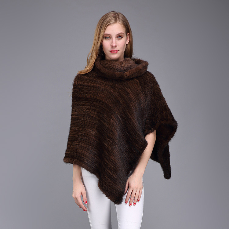Knitted Mink Fur Poncho 974 Details 9