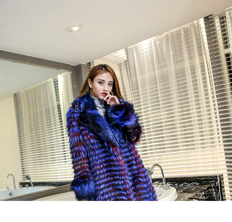3-4 Length Fox Fur Coat with Cashmere Lining 979 Details 20
