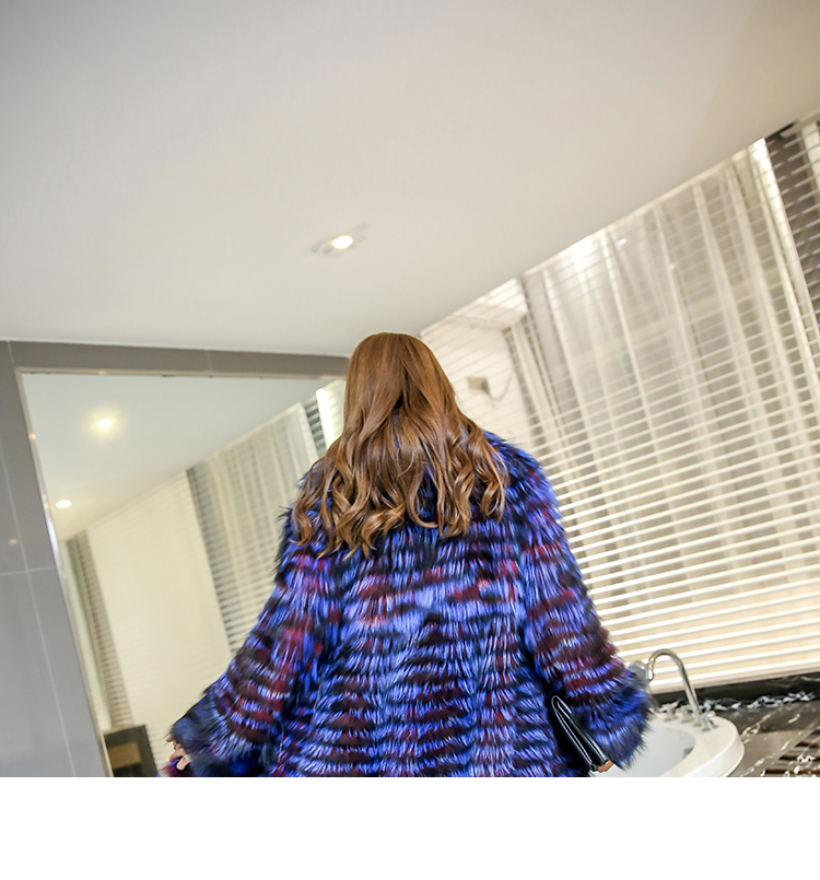 3-4 Length Fox Fur Coat with Cashmere Lining 979 Details 25
