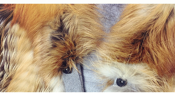 3-4 Length Fox Fur Coat with Cashmere Lining 979 Details 26