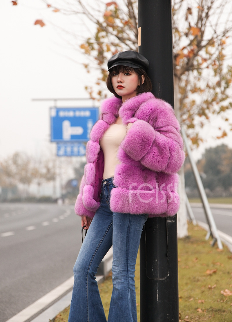 Fox Fur Jacket 986 details 10