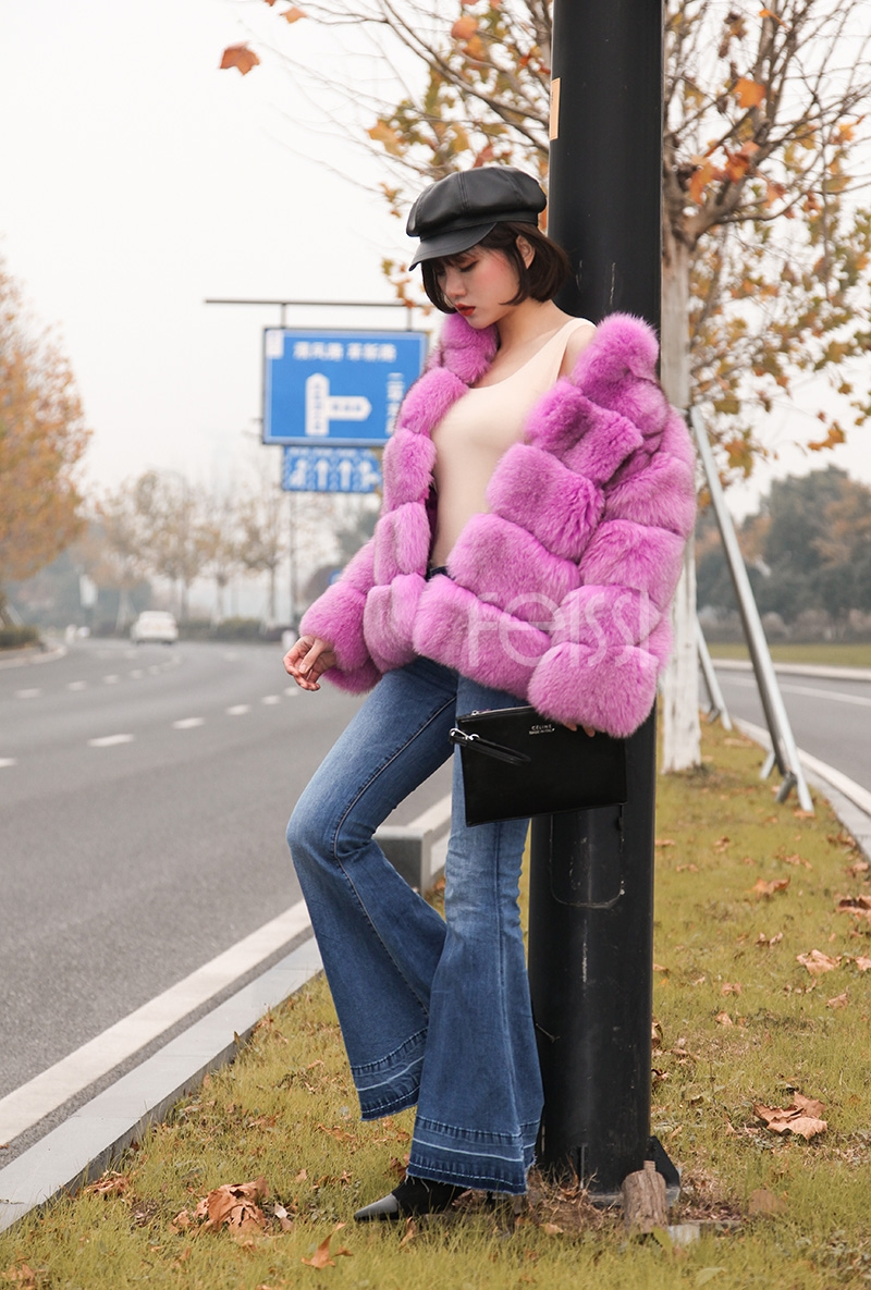Fox Fur Jacket 986 details 12