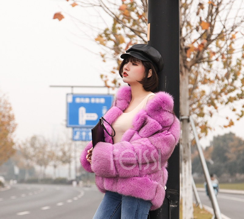Fox Fur Jacket 986 details 13