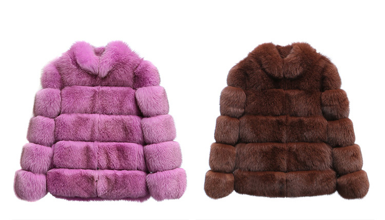 Fox Fur Jacket 986 details 2