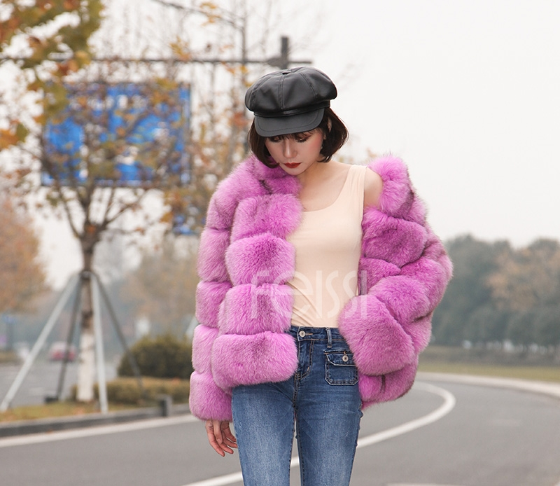 Fox Fur Jacket 986 details 6