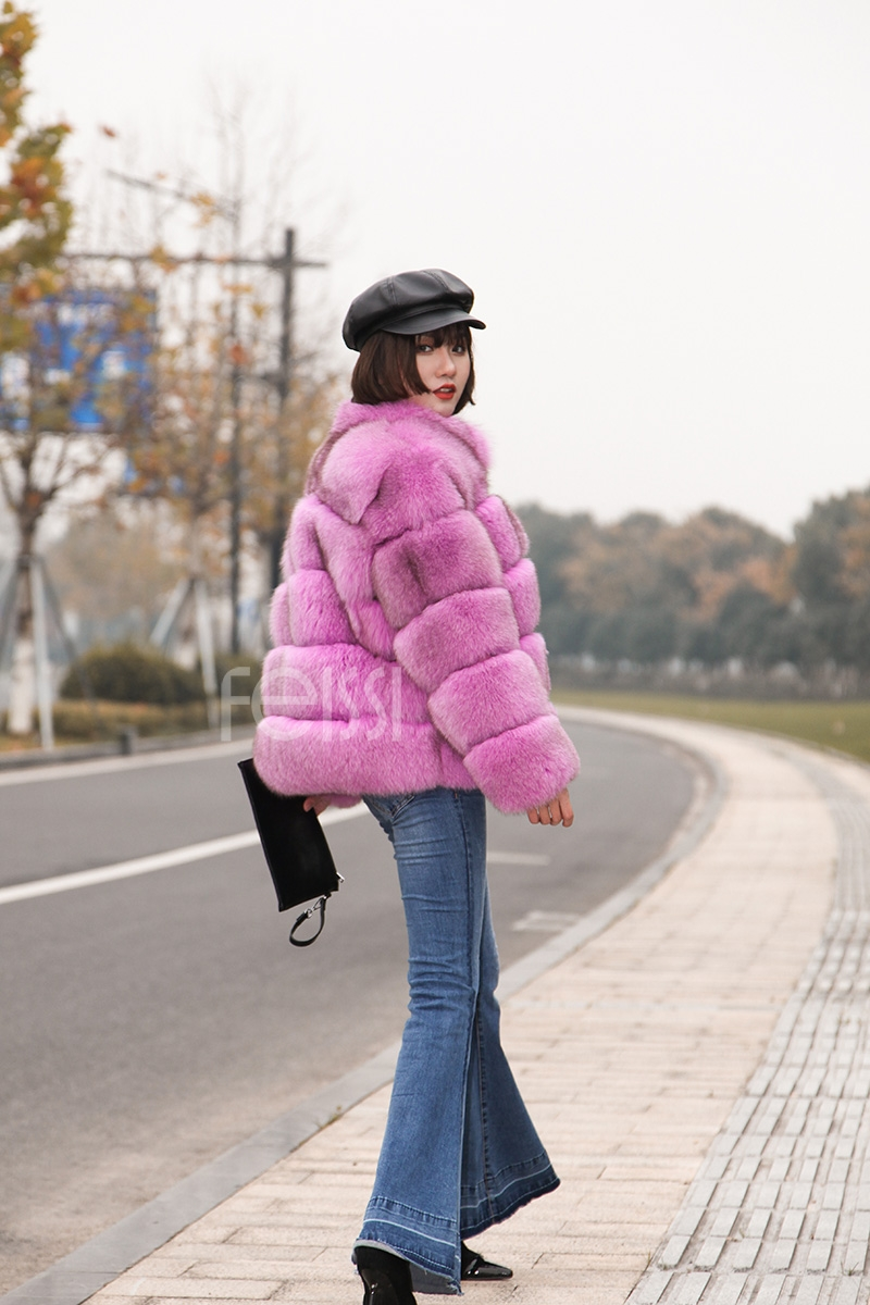 Fox Fur Jacket 986 details 7