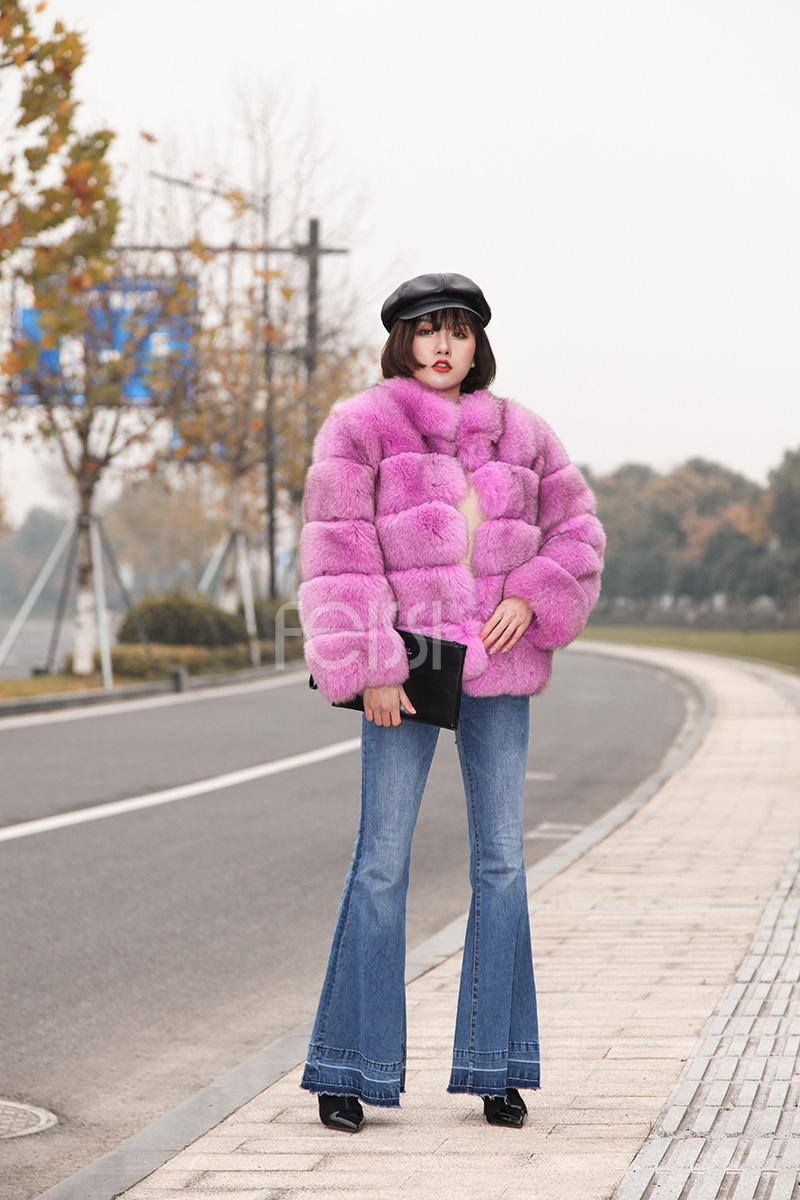 Fox Fur Jacket 986 details 8