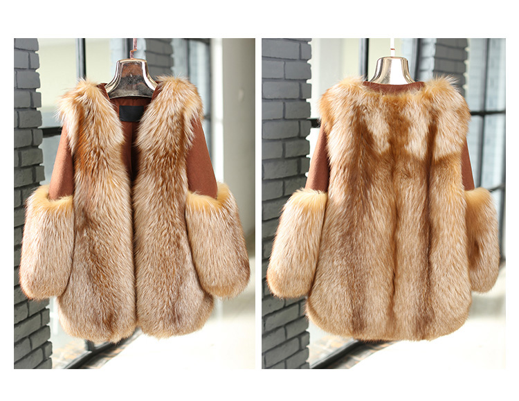 Fox Fur Coat 991 details 5