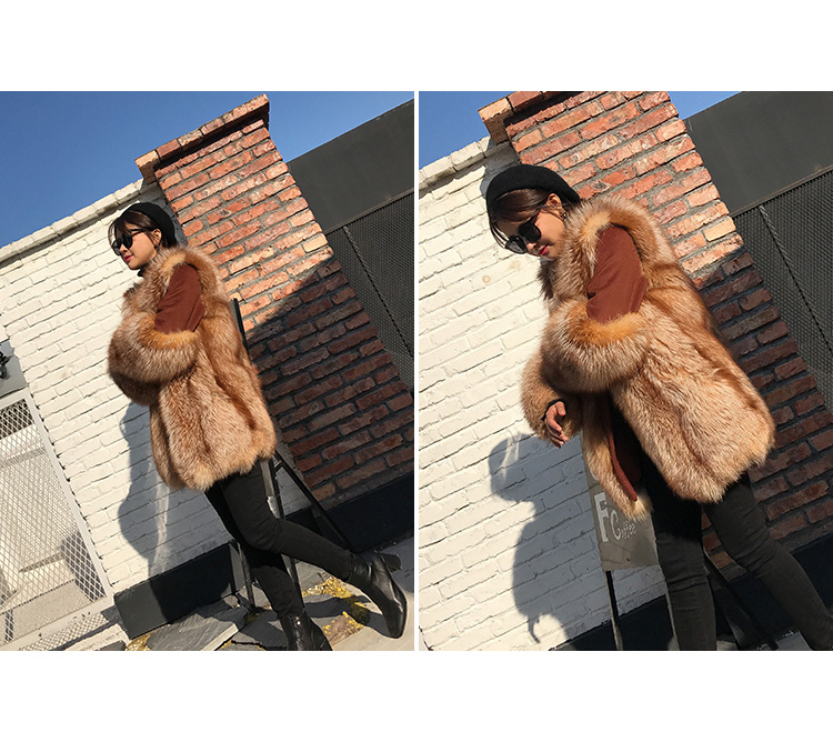 Fox Fur Coat 991 details 7
