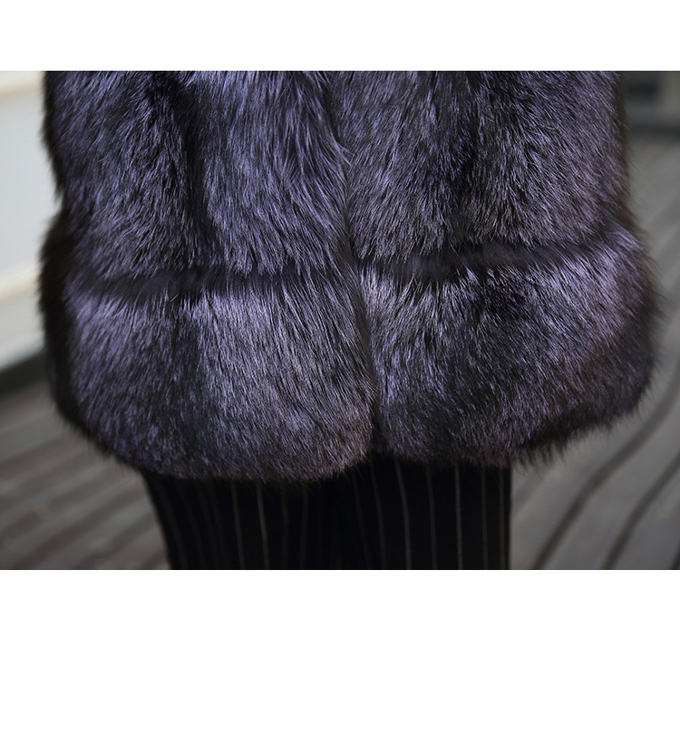 Hooded Fox Fur Vest 994 Details 5