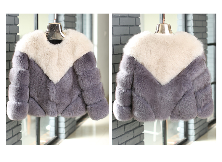 Cropped Fox Fur Jacket 999 Details 2
