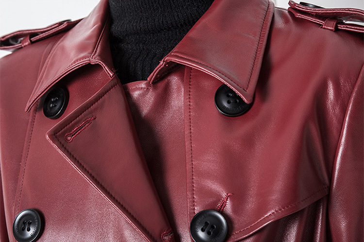 Sheep Leather Coat 797 Details 4