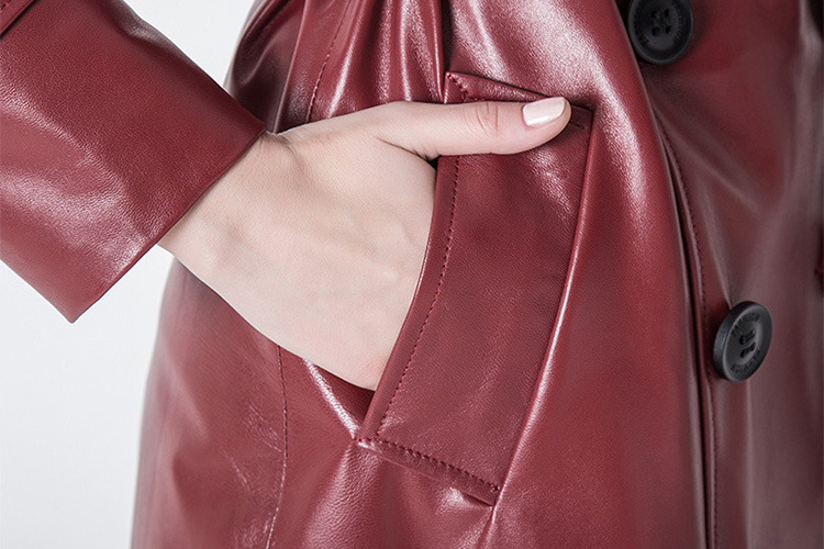 Sheep Leather Coat 797 Details 7
