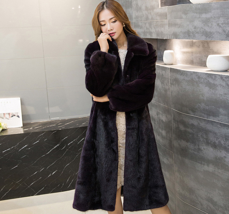 Mink Fur Coat 743 Details 4