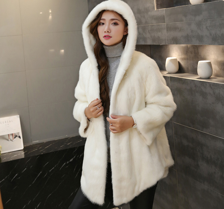 Hooded Mink Fur Coat 753 Details 2