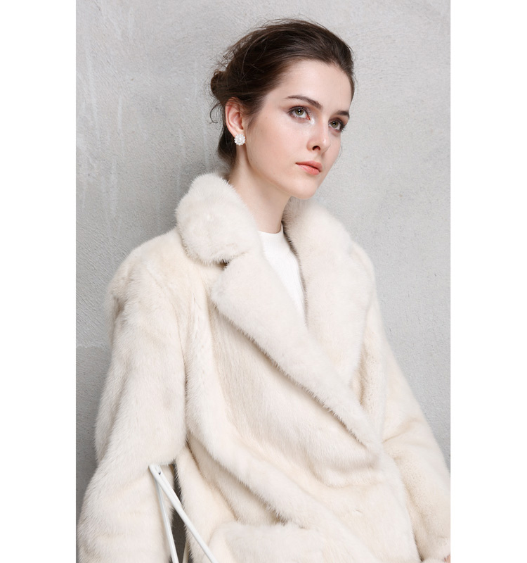 Long Pearl Mink Fur Coat 788 Details 1