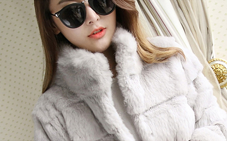 Sheared Rabbit Fur Coat 723 Details 1