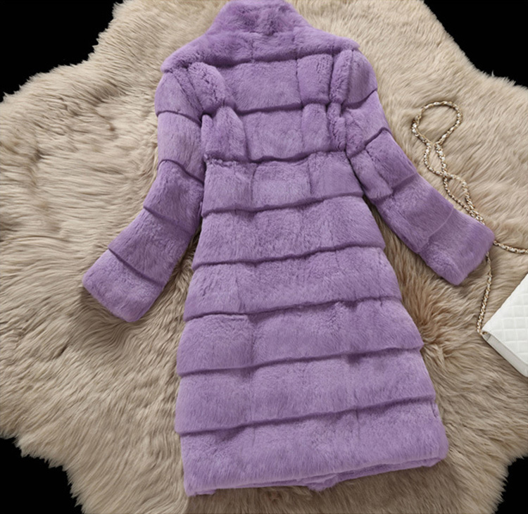 Sheared Rabbit Fur Coat 723 Details 10