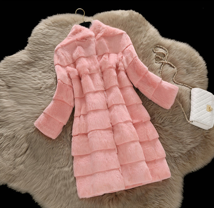 Sheared Rabbit Fur Coat 723 Details 14