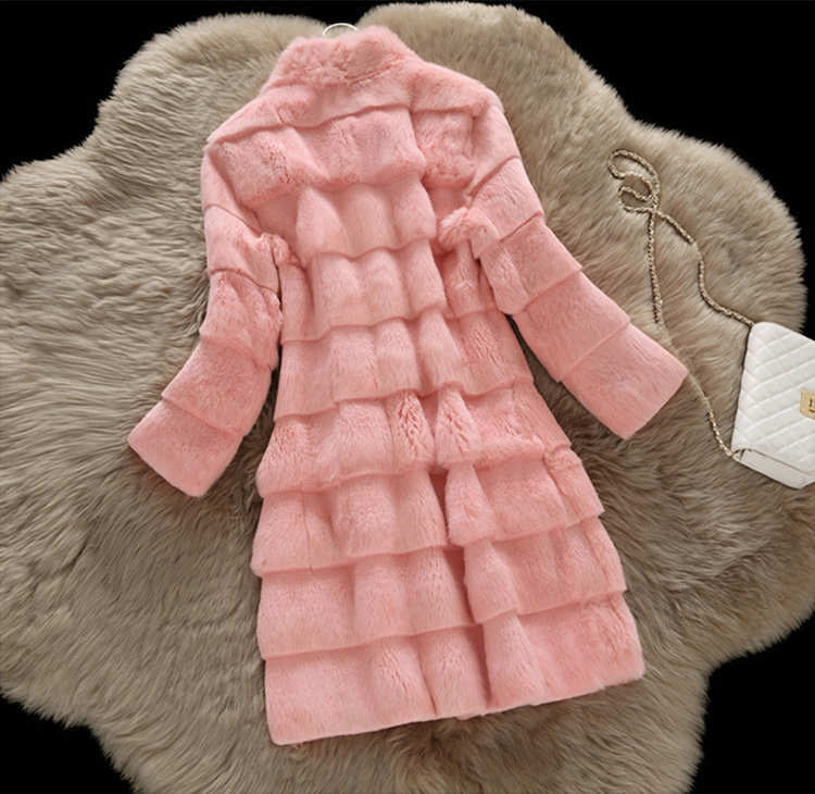 Sheared Rabbit Fur Coat 723 Details 15