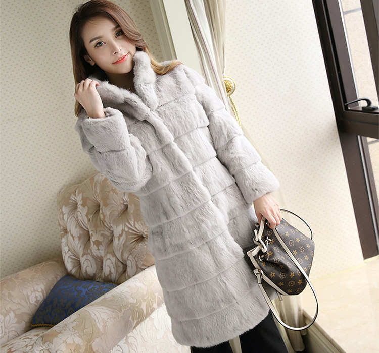 Sheared Rabbit Fur Coat 723 Details 4