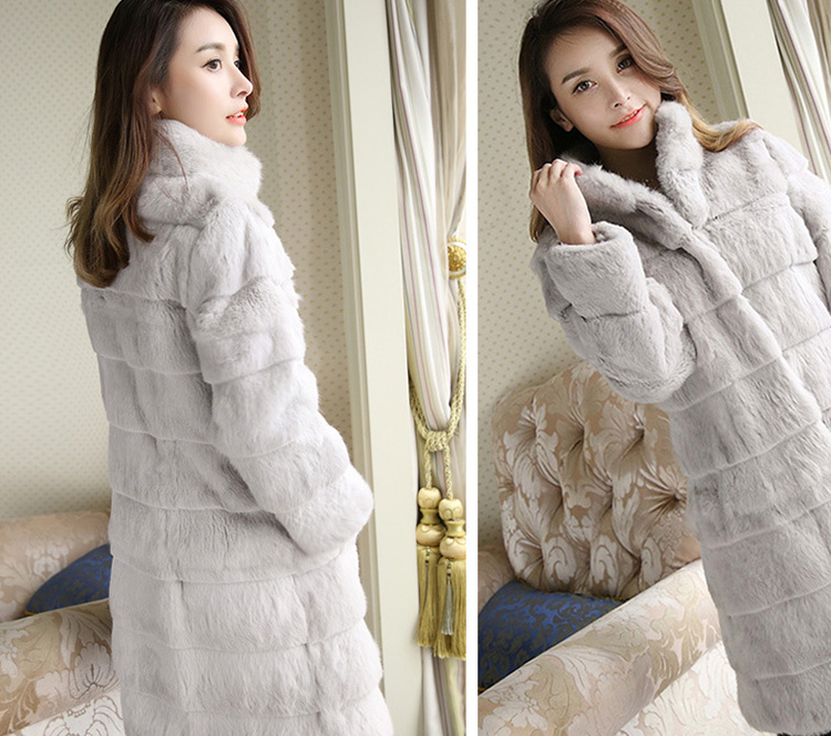 Sheared Rabbit Fur Coat 723 Details 5