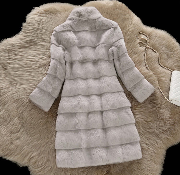 Sheared Rabbit Fur Coat 723 Details 8