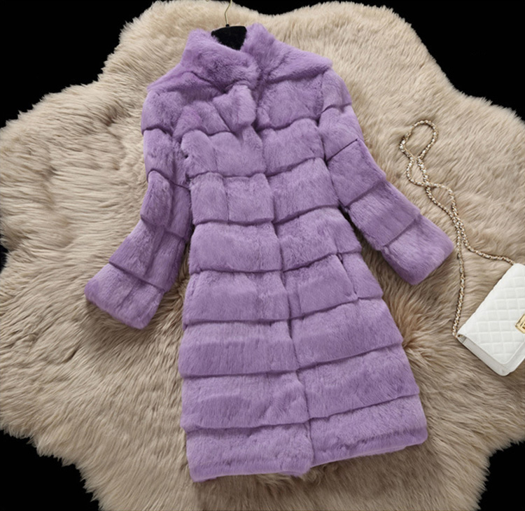 Sheared Rabbit Fur Coat 723 Details 9