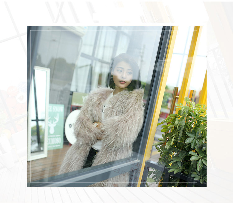 Knitted Raccoon Fur Coat 772 Details 1