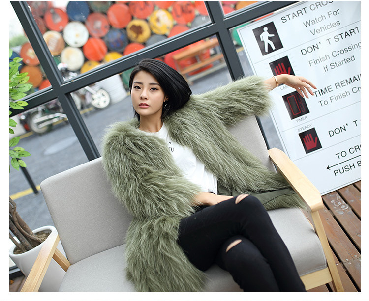 Knitted Raccoon Fur Coat 772 Details 10