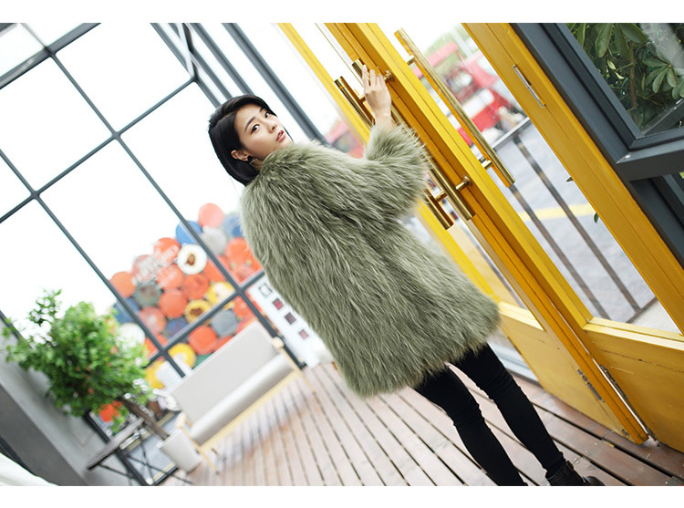 Knitted Raccoon Fur Coat 772 Details 13