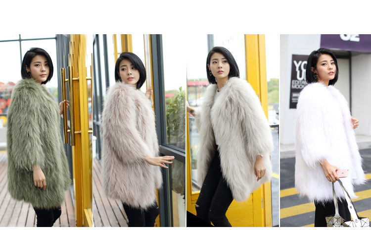 Knitted Raccoon Fur Coat 772 Details 2