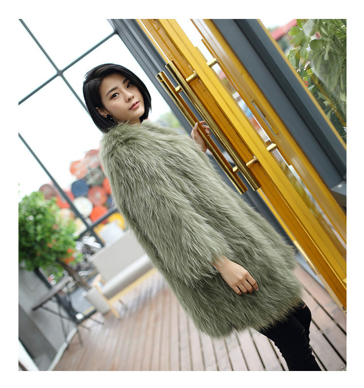 Knitted Raccoon Fur Coat 772 Details 3