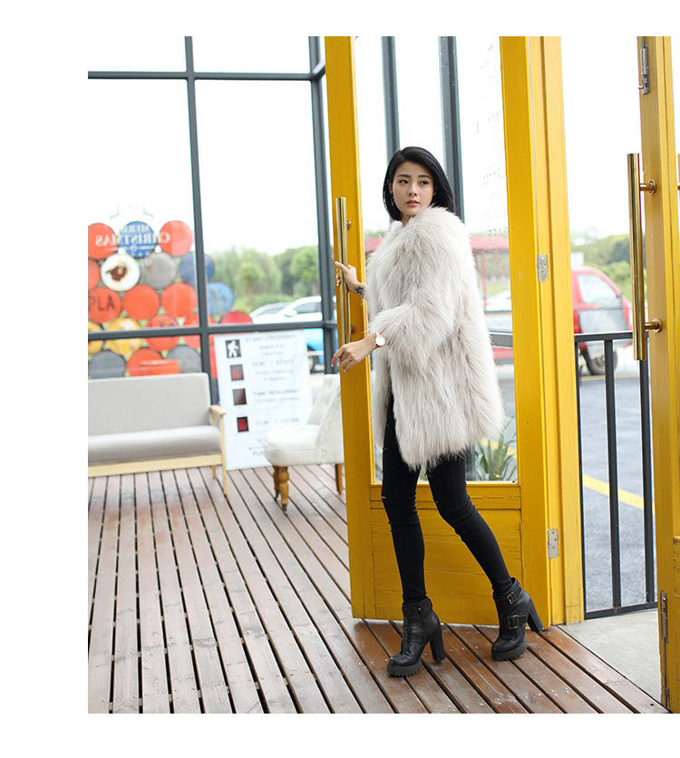 Knitted Raccoon Fur Coat 772 Details 5