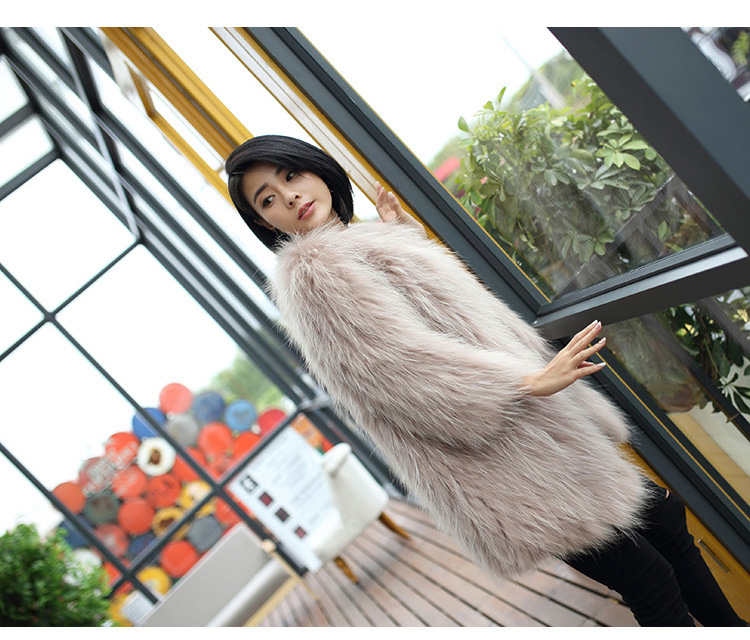 Knitted Raccoon Fur Coat 772 Details 6