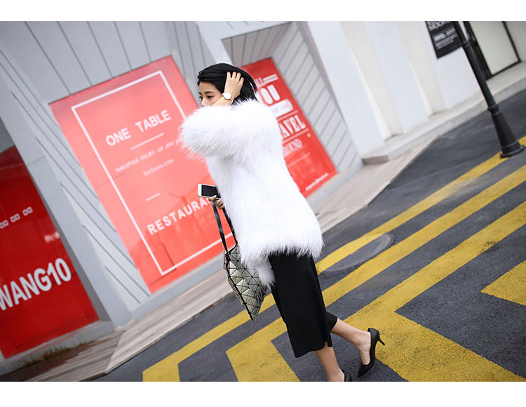 Knitted Raccoon Fur Coat 772 Details 7