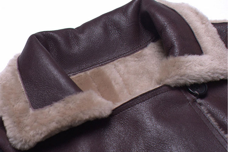 Full Length Shearling Sheepskin Coat 697 Details 1