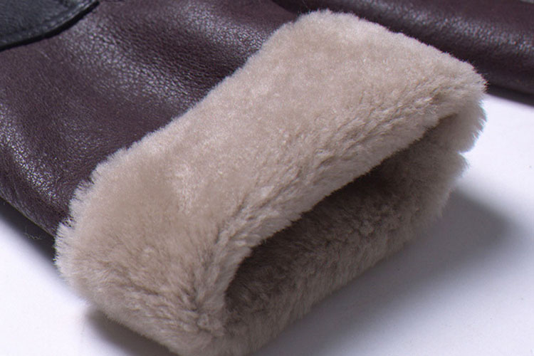 Full Length Shearling Sheepskin Coat 697 Details 4