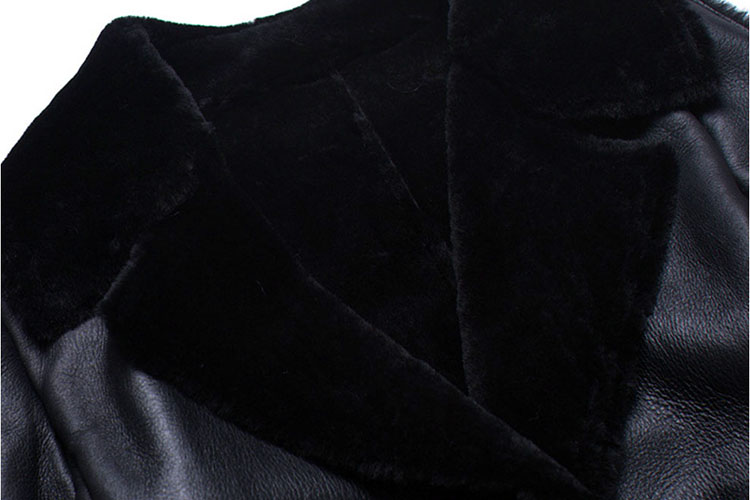Full Length Shearling Sheepskin Coat 698 Details 1
