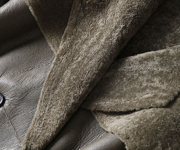 Welted Shearling Sheepskin Coat 747 Details 16