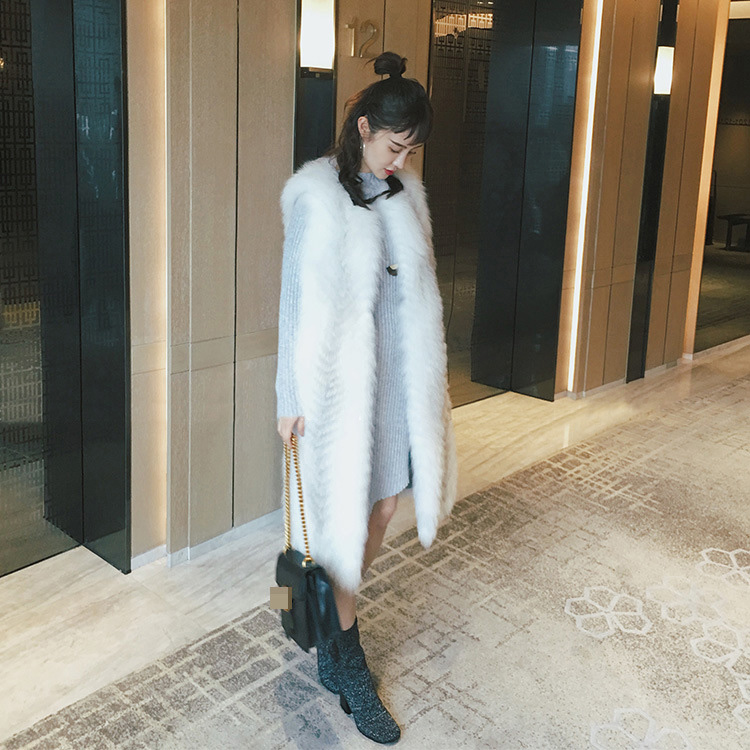 Cross Fox Fur Vest 804 Details 1