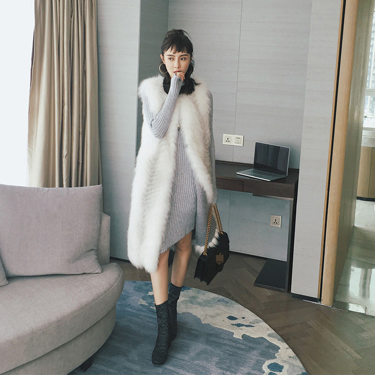 Cross Fox Fur Vest 804 Details 2