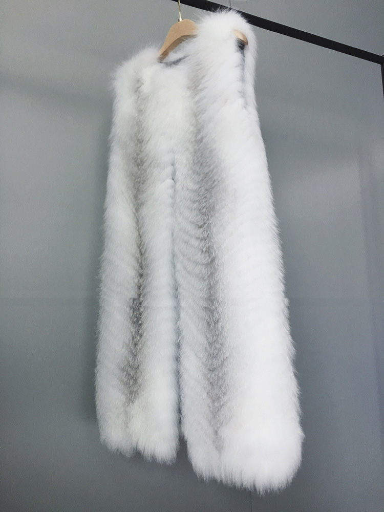 Cross Fox Fur Vest 804 Details 3